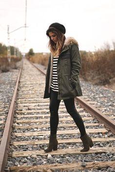 Canada Goose hats sale store - Maxchic Women's Fox Fur Collar Two-tone Plaid Wool-blend Parka ...