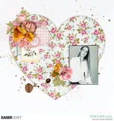 """""""XO"""" Valentine's Day Layout by Jowilna Nolte Design Team member Kaisercraft Official Blog Featuring February 2018 Miss Betty Collection. Learn more at kaisercraft.com.au ~ Wendy Schultz ~ Kaisercraft Projects."""
