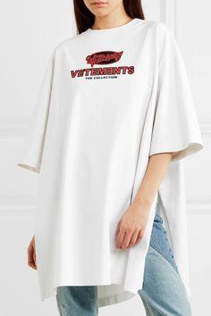Vetements   Oversized split-side #printed #jersey #Tshirt