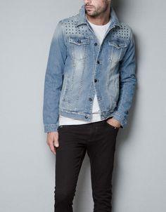 chaqueta de jean hombre zara