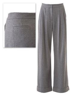 burda style, Schnittmuster -  Marlenehose 118 aus 9-2013: Eine lang und weit fallende Hose mit Bundfalten und breitem Saumaufschlag