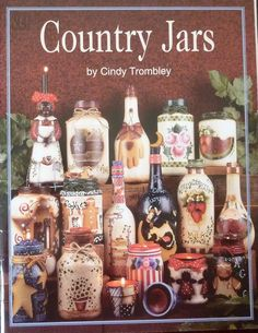 Country Jars by Cindy Trombley - Primitive and Folk Art Decorative Tole Painting Book