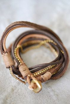 leather bracelets #bohostyle