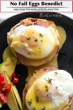 Classic Eggs Benedict has the perfect mix of egg, ham and toast all wrapped in a creamy hollandaise sauce. An easy, gourmet breakfast for everyday and special occasions! #brucnh #eggs #eggsbenedict #specialoccasion #gourmet #breakfast via @westviamidwest