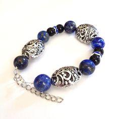 Lapis Lazuli Bracelet, Adjustable Size