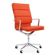 Cult Living Soft Pad Office Chair with High Back – Orange - Clearance Sale