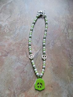"""18"""" Line Green Peace http://www.shop.donnasjewelryboxdallas.com/ Find acct on Facebook & Twitter Donna's Jewelry Box Dallas"""