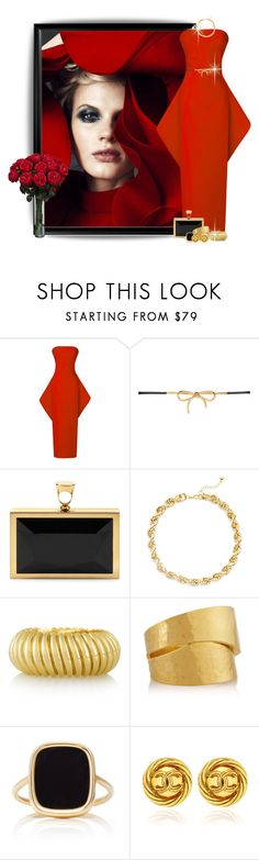 """""""Bold in Red and Gold"""" by jackie-eschbach ❤ liked on Polyvore featuring Poesia, Rosie Assoulin, Balenciaga, Tom Ford, tuleste market, Hervé Van Der Straeten, Ginette NY, red, fashionista and Elegant"""