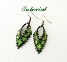 PDF Beaded Earrings Tutorial Seed Bead Earrings by DiushesPatterns