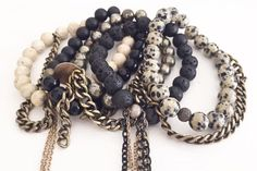 gang's all here // #kayandjobracelets #stackedbracelets #style #neutrals #jewelry www.kayandjo.com