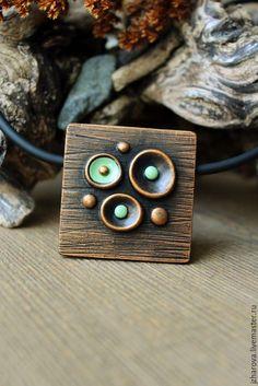 Купить Кулон из полимерной глины Эйфория - кулон, кулон полимерная глина, минимализм, украшения минимализм