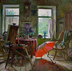 Beautiful art studio interior painting