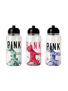 Special Edition PINK Mini Dog and Water Bottle Set - Victoria's Secret PINK Got the blue one today :) Victoria Secrets, Victoria Secret Rosa, Pink Water Bottle, Cute Water Bottles, Pink Love, Vs Pink, Marca Pink, Mini Dogs, Pink Nation