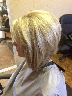 Make it brunette and this could be an option for a cute bob haircut