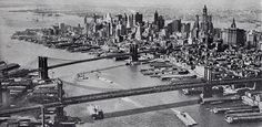 Aerial Views of New York in the 1920s