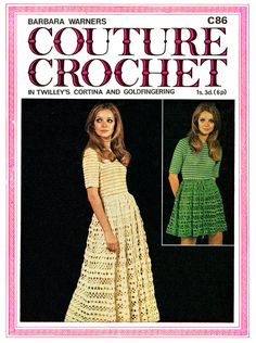 Vintage crochet pattern for ladies dress original pattern. Sizes Bust 32 - 38 In good condition. You are purchasing the original pattern, not a PDF. Vintage Knitting, Vintage Crochet, Crochet Top, Angel Dress, Easy Crochet Patterns, Alter, Kitsch, Dress Patterns, Dress Making