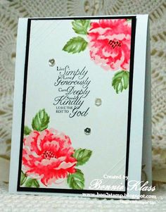 I think we have to try this with our favorite stamp set. Stamping with Klass: Stippled Blossoms Live Simply