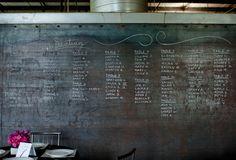 Chalkboard wedding seating chart image