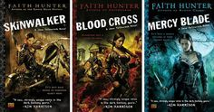 Faith Hunter, Jane Yellowrock series  http://www.fantasticfiction.co.uk/h/faith-hunter/