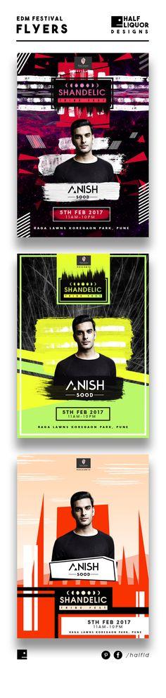 Edm Flyer, Dance Music festival Flyer, Edm Poster, Electronic Dance Music Festival/ Event Design, Edm Design, Half Liquor Designs
