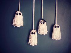 Halloween: come fare fantasmini in lana - Tutorial