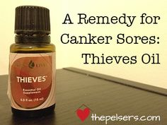 How thieves oil can be used on canker sores. At thepelsers.com Never heard of Thieves Oil before, but the information could come in handy one day.