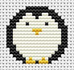 Easy Peasy Penguin cross stitch kit