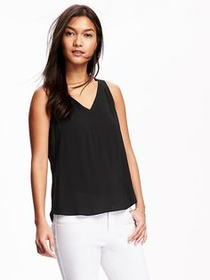Cut-Out V-Neck Tank for Women Product Image