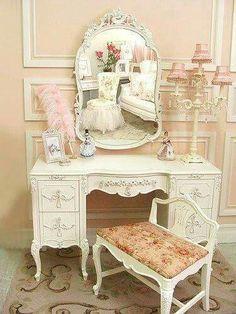 Romantic vanity table