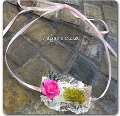 Flower Lace Headband Vintage Headband Burlap by MiyahsCloset, $9.50
