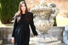 Black wool coat by nütie