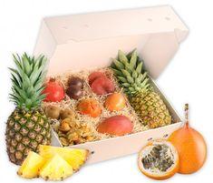Exotische Früchte in einer Obstbox verschenken   Hansen Obst Ostern Party, Mango, Pineapple, Cheese, Fruit, Food, Products, Exotic Fruit, Pomegranate