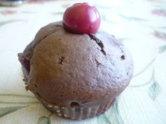 muffin with cherry