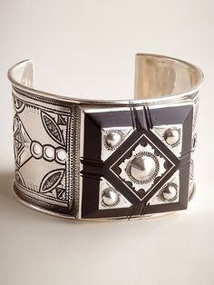Bold Silver and Ebony Bracelet - One of a Kind | IFAM | Online