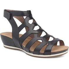 Dansko Valentina Cage Shoe - Pewter Nappa Leather Women's Euro 42 (Us Wms Caged Shoes, Caged Sandals, Black Sandals, Gladiator Sandals, Wedge Sandals, Leather Sandals, Sock Shoes, Kid Shoes, Strappy Wedges