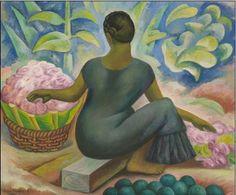 Diego Rivera - Flower Vendor in Xochimilco (1929)