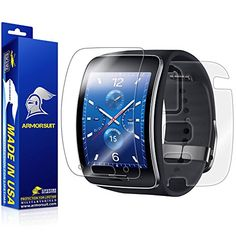 ArmorSuit MilitaryShield  Samsung Gear S Smartwatch Screen Protector  Full Body Skin Protector  AntiBubble and Extream Clarity HD Shield with Lifetime Replacements *** You can get additional details at the image link.
