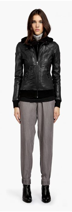 Maryam-N Black Leather Jacket