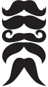 awesome litte mustaches to draw