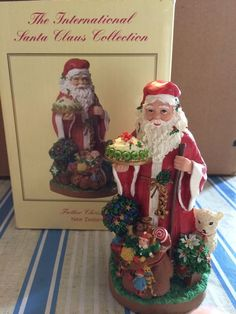 """NEW ZEALAND """"FATHER CHRISTMAS"""" FIGURINE (INTERNATIONAL SANTA CLAUS COLLECTION)"""