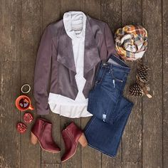 Fall for flares! Balance this season's trending denim with flowy outer layers to stay ... | Use Instagram online! Websta is the Best Instagram Web Viewer!