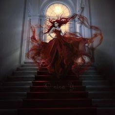 the scarlet hour by nina y - Digital Art by Nina Y  <3 <3