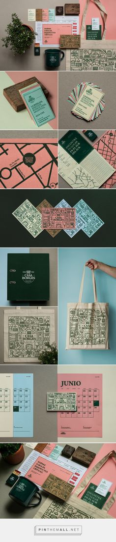 Casa Borges / hostel branding and stationery by B. Estudio