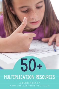 Over 50 multiplication resources compiled in one place for elementary teachers. Teaching Multiplication, Math 5, Teaching Math, Easy Math, Teaching Posts, Math Class, Fourth Grade Math, Third Grade, Elementary Math