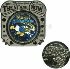 Disney Pins - WDW - Then and Now - Legend of the Lion King to Mickey's Philharmagic - Limited Edition - Pin 75918 by Disney. $29.95. Limited Edition   Take a trip through the history of Walt Disney World® Attractions in this pin-of-the-month series! This pin features Legend of The Lion King Attraction which was replaced by the Mickey's PhilharMagic® Attraction at the Magic Kingdom. The pin spins to reveal both attractions, with the original attraction in metal ...