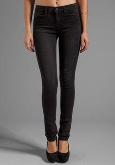 J BRAND Maria Highrise Skinny in Graphite