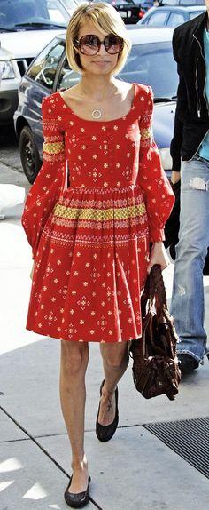 SHOP Nicole Richie's vintage Oscar De La Renta bohemian dress at ifpocketstalked.com