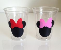 Items similar to 12 Minnie Mouse Party Cups- Red/Pink Bows, Minnie Mouse Birthday Cups, Mickey Mouse, Mickey Mouse Clubhouse, Minnie Mouse Birthday Party on Etsy Theme Mickey, Minnie Mouse Theme Party, Red Minnie Mouse, Minnie Mouse 1st Birthday, Mickey Mouse Clubhouse Birthday, Mickey Y Minnie, 2nd Birthday Parties, Birthday Party Decorations, Party Favors
