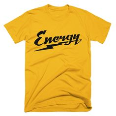 Energy Workout T-Shirt Men Yellow #noexcusesapparel #workout #fitness #tshirt #gym #motivation #apparel #energy