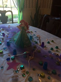 Little Mermaid Party tabletop.